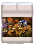 Sewing Machine  - Sewing Machine Iv Duvet Cover by Mike Savad