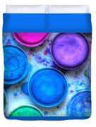 Shades Of Blue Watercolor Duvet Cover by Heidi Smith