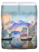 Shades Of Tranquility Duvet Cover by Tracey Harrington-Simpson