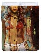 Shakira  Duvet Cover by Corporate Art Task Force