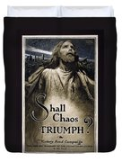 Shall Chaos Triumph - W W 1 - 1919 Duvet Cover by Daniel Hagerman