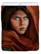 Sharbat Gula Duvet Cover by Reggie Duffie