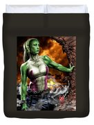 She-hulk Duvet Cover by Pete Tapang