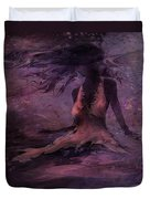 She Is The Wind Duvet Cover by Rachel Christine Nowicki