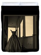 She Walks The Halls Duvet Cover by Barbara St Jean
