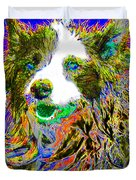 Sheep Dog 20130125v3 Duvet Cover by Wingsdomain Art and Photography
