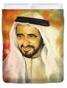Sheikh Rashid Bin Saeed Al Maktoum Duvet Cover by Corporate Art Task Force