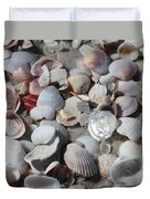 Shells On Treasure Island Duvet Cover by Carol Groenen