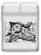 Shellscape In Monochrome Duvet Cover by Kaye Menner
