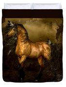 Shikoba Choctaw Horse Duvet Cover by Shanina Conway