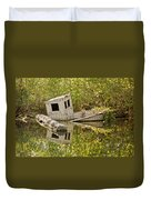 Shipwreck Silver Springs Florida Duvet Cover by Christine Till