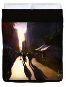 Shopping Stands Along Market Street At San Francisco's Embarcadero - 5d20841 Duvet Cover by Wingsdomain Art and Photography