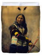 Shout At Oglala Sioux  Duvet Cover by Heyn Photo