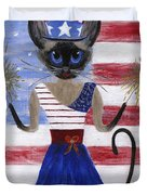 Siamese Queen of the U S A Duvet Cover by Jamie Frier