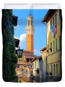 Siena Streets Duvet Cover by Inge Johnsson