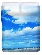 Siesta Sky - Beach Art By Sharon Cummings Duvet Cover by Sharon Cummings