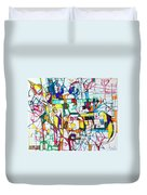 Silence Is Worth Double Duvet Cover by David Baruch Wolk