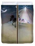 Silent Night - Gently Cross Your Eyes And Focus On The Middle Image Duvet Cover by Brian Wallace
