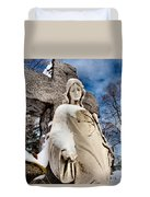 Silent Winter Angel Duvet Cover by Gothicolors Donna Snyder