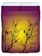 Silhouette Birds Duvet Cover by Christina Rollo