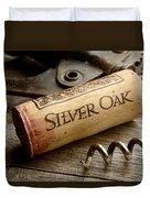 Silver On Silver Duvet Cover by Jon Neidert