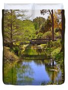 Silver Springs Florida Duvet Cover by Christine Till