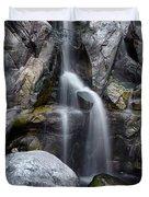 Silver Waterfall Duvet Cover by Carlos Caetano