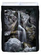 Silver Waterfall Duvet Cover by Carlos Caetano
