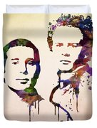 Simon And Garfunkel Duvet Cover by Aged Pixel