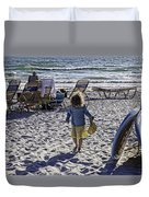 Simpler Times 2 - Miami Beach - Florida Duvet Cover by Madeline Ellis