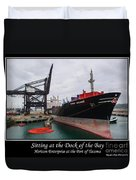 Sitting At The Dock Of The Bay Duvet Cover by Tikvah's Hope