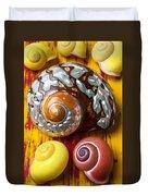 Six Snails Shells Duvet Cover by Garry Gay