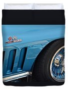 Sixty Six Corvette Roadster Duvet Cover by Frozen in Time Fine Art Photography