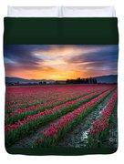 Skagit Valley Predawn Duvet Cover by Inge Johnsson