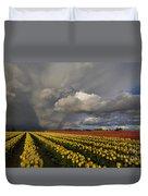 Skagit Valley Storm Duvet Cover by Mike Reid