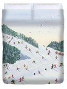 Ski Vening Duvet Cover by Judy Joel