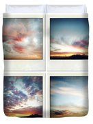 Skies Duvet Cover by Les Cunliffe