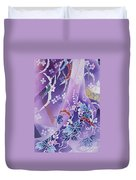 Skiyu Purple Robe Crop Duvet Cover by Haruyo Morita