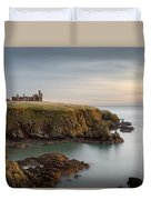 Slains Castle Sunrise Duvet Cover by Dave Bowman