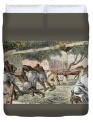 Slaves Irrigating By Water-wheel Duvet Cover by English School