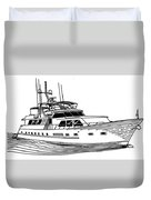 Sleek Motoryacht Duvet Cover by Jack Pumphrey