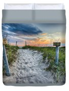 Sleeping Bear National Lakeshore Sunset Duvet Cover by Sebastian Musial