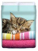 Sleepy Kitten Duvet Cover by Greg Cuddiford
