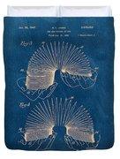Slinky Toy Blueprint Duvet Cover by Edward Fielding