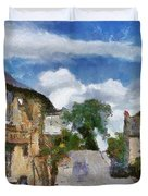 Small Town Street Duvet Cover by Ayse Deniz