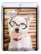 Smart Doggie Duvet Cover by Edward Fielding