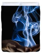 Smoke Wisps From A Hand Duvet Cover by Corey Hochachka
