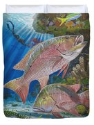 Snapper Spear Duvet Cover by Carey Chen