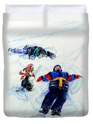 Snow Angels Duvet Cover by Hanne Lore Koehler
