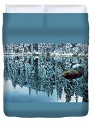 Snow Mirror Duvet Cover by Eric Glaser